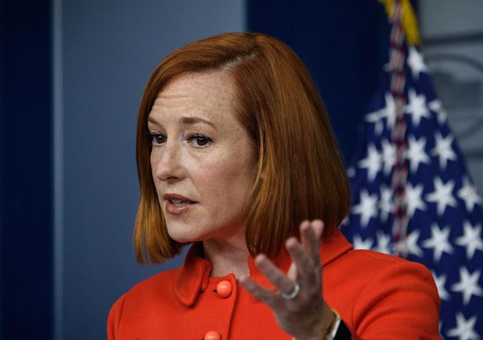 White House Press Secretary Jen Psaki speaks at the daily briefing at the White House in Washington, DC, on October 12, 2021. (Nicholas Kamm/AFP via Getty Images)
