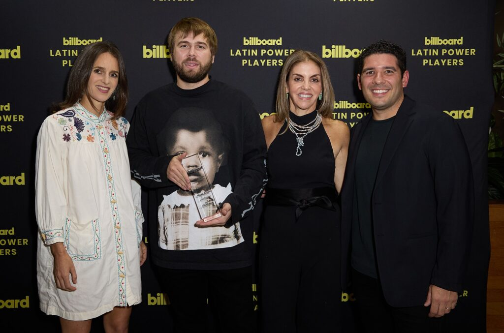 Noah Assad Honored as Billboard's 2021 Latin Executive of the Year at Latin Power Players Event in Miami