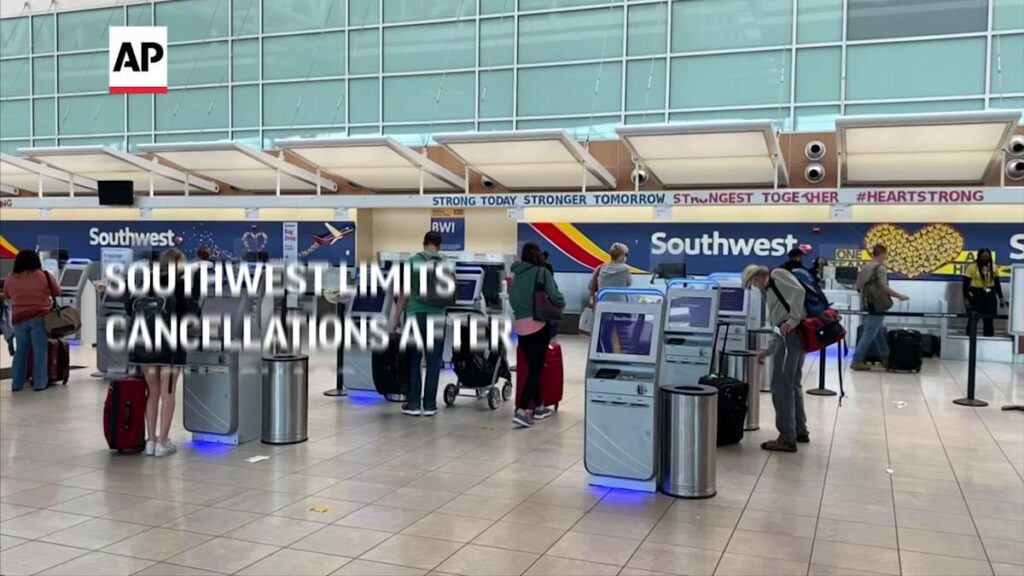 Southwest limits cancellations after flight chaos