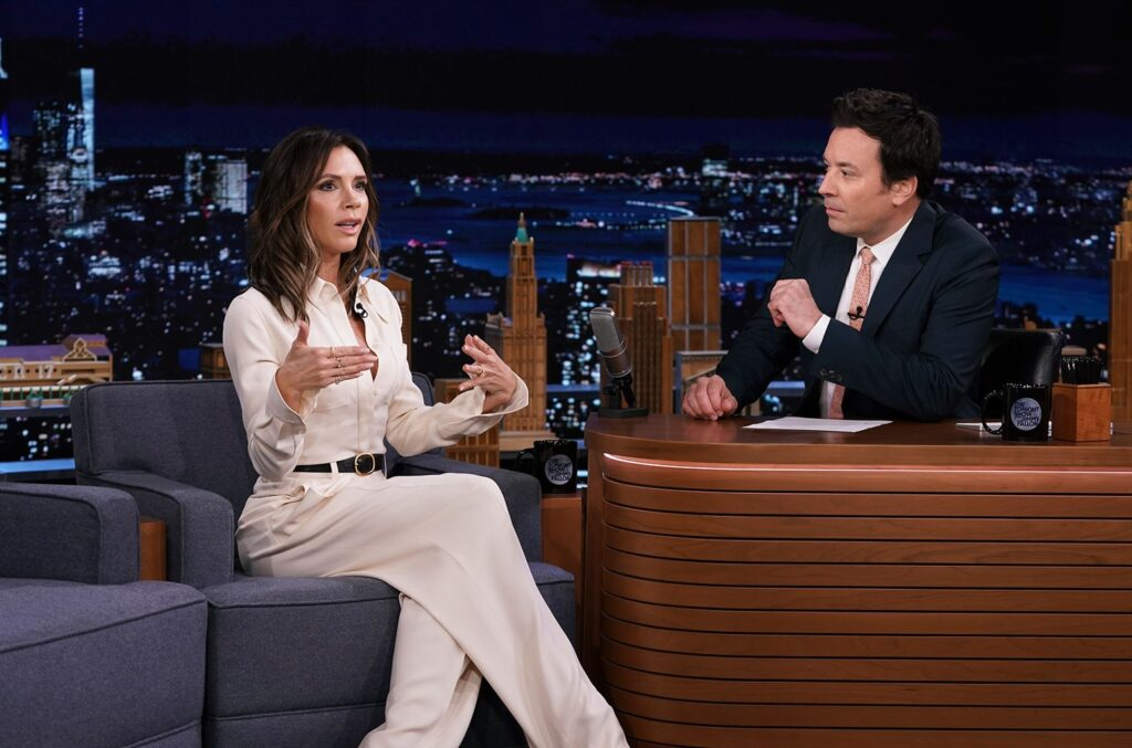 Victoria Beckham Explains Those Matching Outfits With David on 'Fallon': Watch